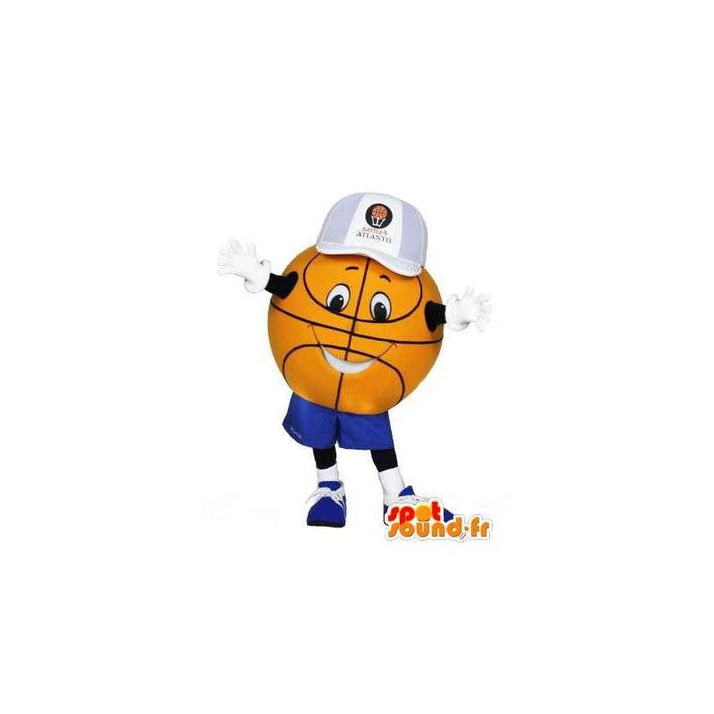 Mascotte de ballon de basket géant. Costume de ballon de basket - MASFR005947 - Mascotte sportives