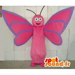 Mascot butterfly pink and blue. Butterfly Costume