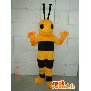 Mascot bee yellow and black. Costume wasp - MASFR006021 - Mascots bee