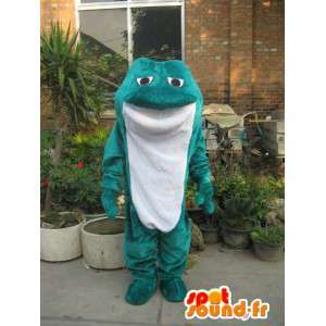巨大な緑色のヒキガエルをマスコット。ヒキガエルコスチューム