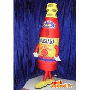 Mascotte de bouteille de sauce piquante - MASFR005821 - Mascottes Bouteilles