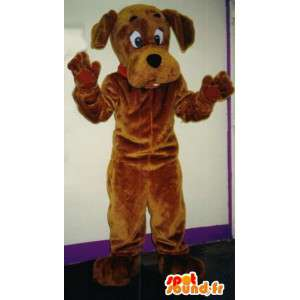 Bruine hond mascotte, klantgericht - MASFR005822 - Dog Mascottes