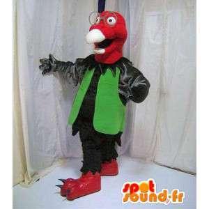 Maskotka sęp, czerwony i zielony - MASFR005827 - ptaki Mascot
