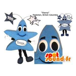 Giant blue star mascot. Costume Star - MASFR005846 - Mascots unclassified