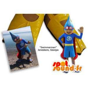 Geklede redder mascotte superheld - MASFR005847 - superheld mascotte