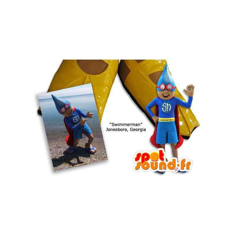 First Aid mascot dressed as superheroes - MASFR005847 - Superhero mascot