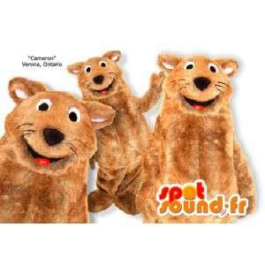 Mascot lontra marrone. Costume lontra