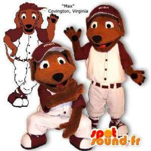 Dog-Maskottchen im Baseball gekleidet.Kostüm Baseball - MASFR005864 - Hund-Maskottchen