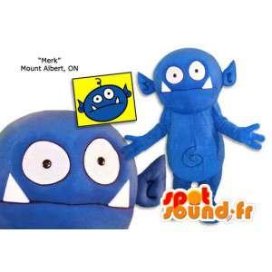 Blue monster mascot plush. Blue monster costume - MASFR005865 - Monsters mascots