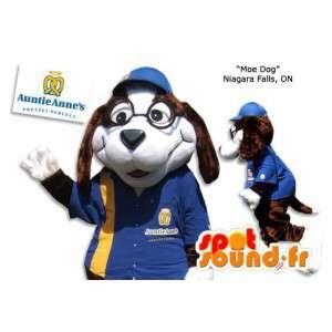 Dog-Maskottchen in Blau und Gelb einheitliche - MASFR005866 - Hund-Maskottchen