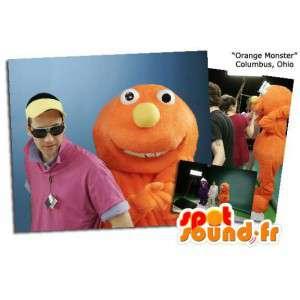 Orange monster mascot. Monster Costume - MASFR005868 - Monsters mascots