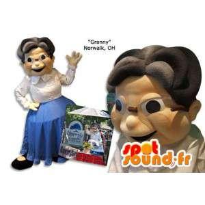 Mascot Großmutter.Kostüm Großmutter - MASFR005873 - Menschliche Maskottchen