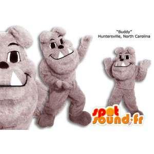 Gray bulldog mascot. Bulldog costume - MASFR005878 - Dog mascots