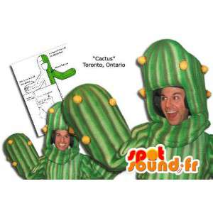 緑のサボテンのマスコット、巨人。サボテンのコスチューム-MASFR005879-植物のマスコット