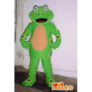 Giant green frog mascot. Frog costume - MASFR005888 - Mascots frog