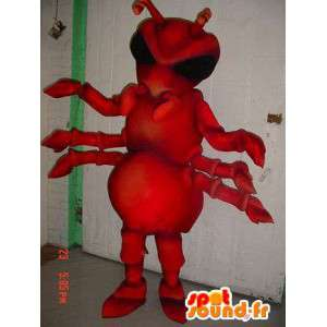Ant mascot red giant. Costume ants