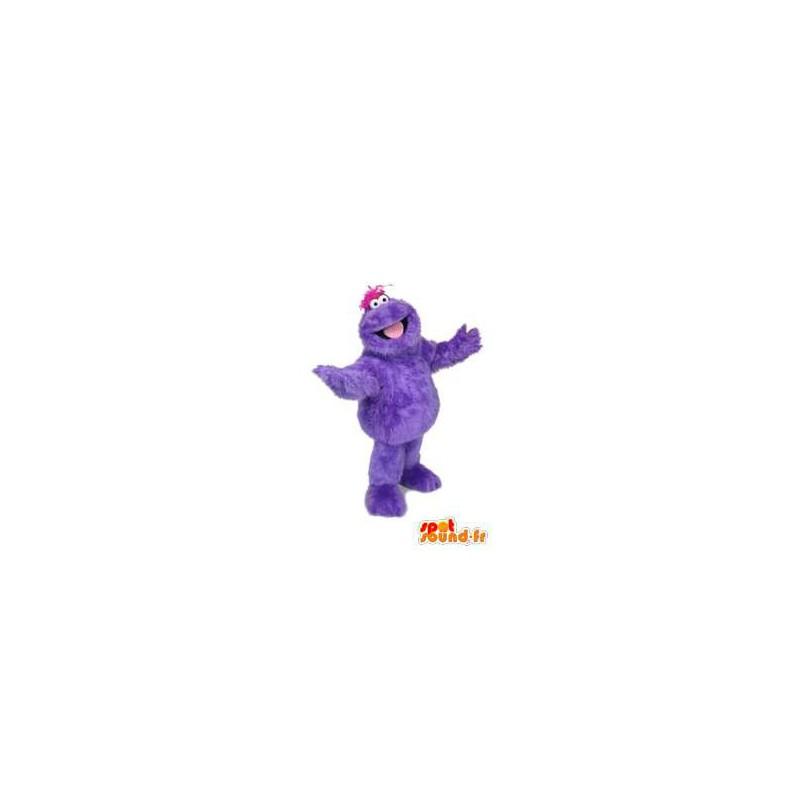 Maskot purpurové monstrum, chlupatý. monster Kostým - MASFR005903 - Maskoti netvoři