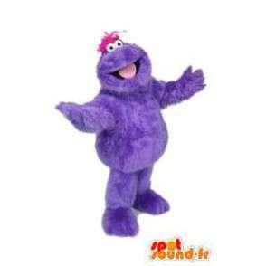 Mascotte de monstre violet, poilu. Costume de monstre - MASFR005903 - Mascottes de monstres
