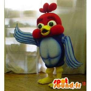 Mascotte d'oiseau de dessin animé très coloré. Costume d'oiseau - MASFR005904 - Mascotte d'oiseaux