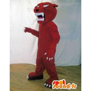 Rød panter maskot. Red Tiger Suit - MASFR005910 - Tiger Maskoter