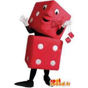 Mascotte de dés rouges. Costume de dés - MASFR005913 - Mascottes d'objets
