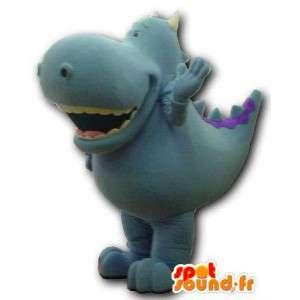 Blau Dinosaurier-Maskottchen Riese.Dinosaurier-Kostüm - MASFR005915 - Maskottchen-Dinosaurier