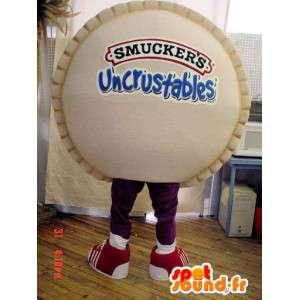 Brązowy pie maskotka. Giant ciasto Costume - MASFR005927 - ciasto maskotki