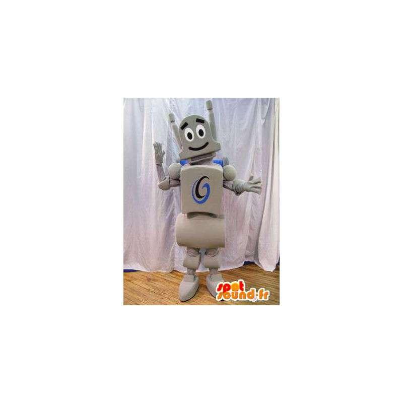 Gray robot mascot. Robot costume - MASFR005929 - Mascots of Robots