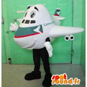 Mascot white plane. Costume giant aircraft - MASFR005932 - Mascots of objects