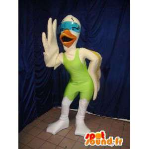 Hvit fugl maskot. Goose Costume - MASFR005950 - Mascot fugler