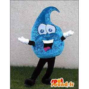 Goccia gigante mascotte blu. Lacrima Costume - MASFR005956 - Mascotte non classificati