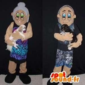 Mascotte paio di nonni. Pacco di 2 - MASFR005960 - Umani mascotte