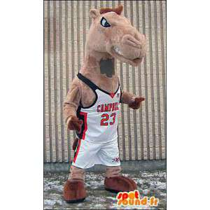Mascot camel, dromedary in sportswear - MASFR005966 - Sports mascot