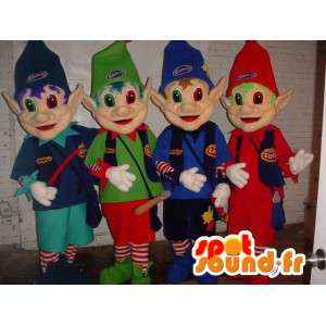 Elf maskotki, kolorowe elfy. Zestaw 4 - MASFR005978 - Boże Maskotki