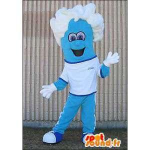 Mascot blaue Kerl mit weißem Haar - MASFR005979 - Menschliche Maskottchen
