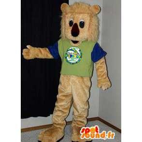 Löwe-Maskottchen beige Plüsch.Lion Kostüm - MASFR005984 - Löwen-Maskottchen