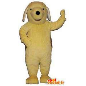Gele en bruine hond mascotte. Dog Costume - MASFR005991 - Dog Mascottes