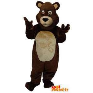 Brun og beige bjørnemaskot. Bear kostume - Spotsound maskot