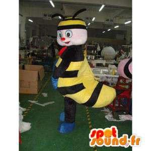 Maskotti musta ja keltainen mehiläinen. Bee Costume - MASFR006005 - Bee Mascot