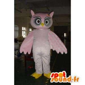 Pink owl mascot. Owl costume - MASFR006008 - Mascot of birds