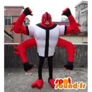 Inseto mascote monstro vermelho com 4 braços - MASFR006023 - mascotes Insect