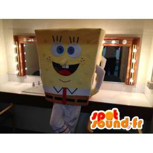 Mascot Bob Esponja, personagem de desenho animado famosa - MASFR006041 - Mascotes Bob Esponja