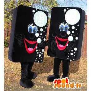 Mascots sponges black with white bubbles. Pack of 2 - MASFR006043 - Mascots of objects