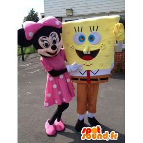 Mascotte de Minnie et de Bob l'éponge. Pack de 2 - MASFR006048 - Mascottes Bob l'éponge