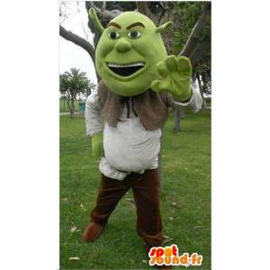 Shrek maskot, berømt tegneseriefigur