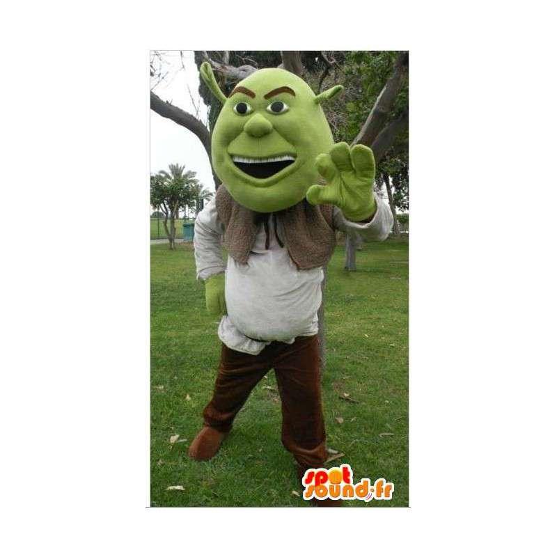 Shrek mascot, cartoon character famous - MASFR006051 - Mascots Shrek