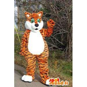 Oranssi kissa maskotti, tiikeri. kissa perässä - MASFR006052 - kissa Maskotteja