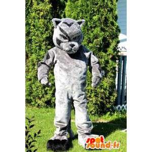 Dog mascot gray. Gray dog costume - MASFR006053 - Dog mascots