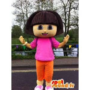 Mascotte de Dora l'exploratrice. Costume de Dora l'exploratrice - MASFR006068 - Mascottes Dora et Diego