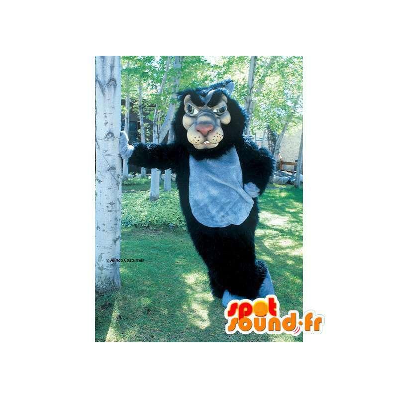 Mascot wolf black and gray. Wolf costume - MASFR006069 - Mascots Wolf